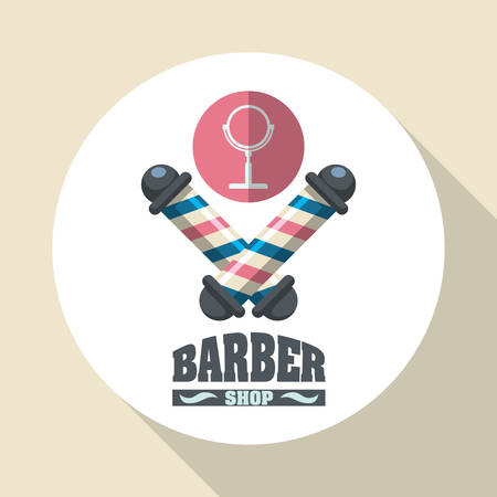 haircare: Barber shop concept with icon design, vector illustration 10 eps graphic. Illustration