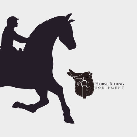 ridding: Horse ridding concept with icon design, vector illustration 10 eps graphic. Illustration