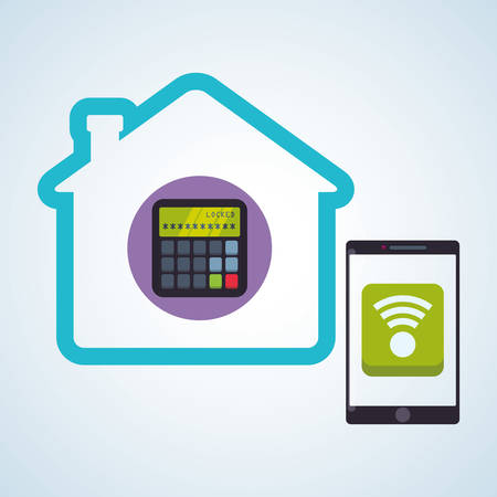 wireless network: Smart house concept with icon design, vector illustration 10 eps graphic.