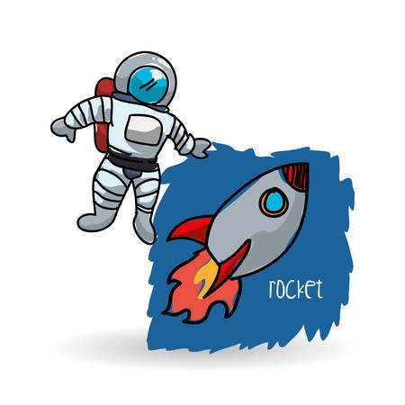 orbital spacecraft: Space concept with icon design, vector illustration 10 eps graphic.