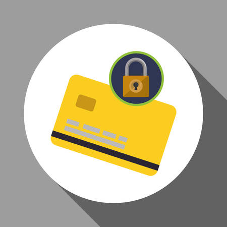 credit risk: Data security concept with icon design, vector illustration 10 eps graphic.