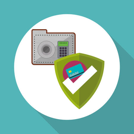 strongbox: Data security concept with icon design, vector illustration 10 eps graphic.
