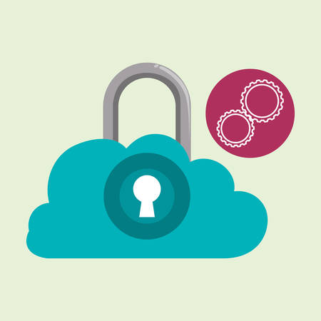 symbolics: Data security concept with icon design, vector illustration 10 eps graphic.