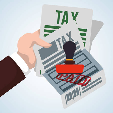 government services: Tax concept with icon design, vector illustration 10 eps graphic.