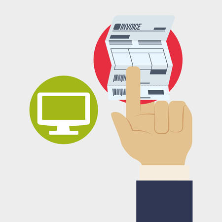 record office: Invoice concept with icon design, vector illustration 10 eps graphic.