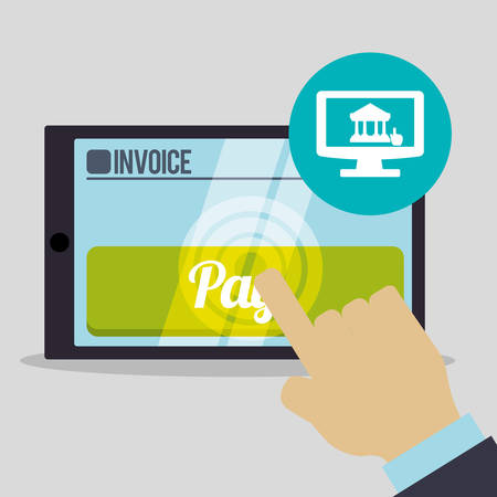 accounts payable: Invoice concept with icon design, vector illustration 10 eps graphic.