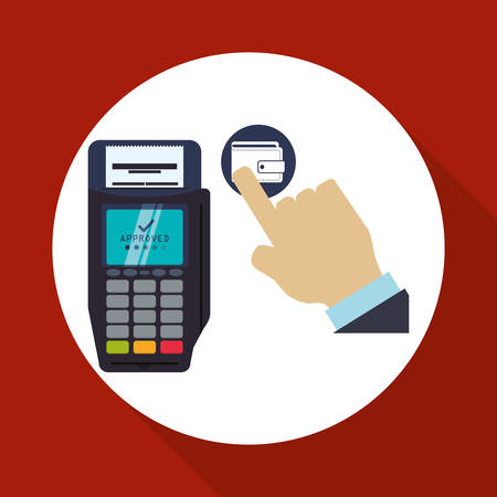 registros contables: Invoice concept with icon design, vector illustration 10 eps graphic.