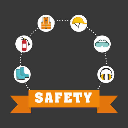 industrial safety: Industrial concept with icon design, vector illustration graphic. Illustration