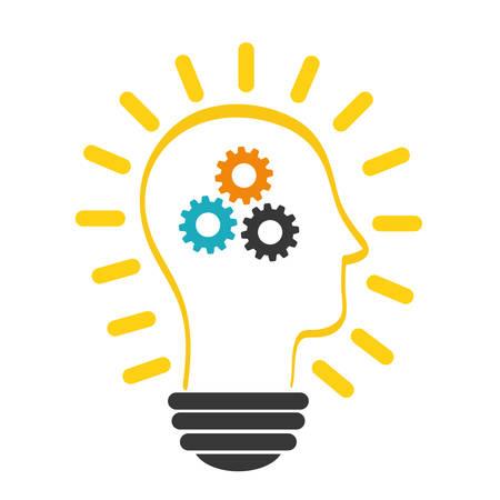 Innover notion avec l'icône de conception, illustration vectorielle graphique. Vecteurs