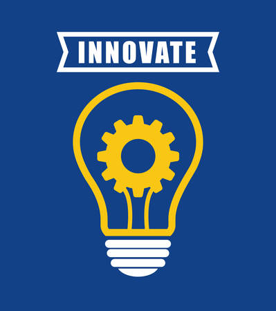 innovate: Innovate concept with icon design, vector illustration graphic.
