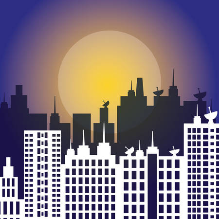 moon  metropolis: City concept with icon design, vector illustration 10 eps graphic.