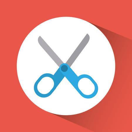 snip: Scissors concept with icon design, vector illustration 10 eps graphic.