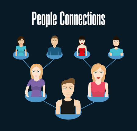 network marketing: People concept with icon design, vector illustration 10 eps graphic. Illustration