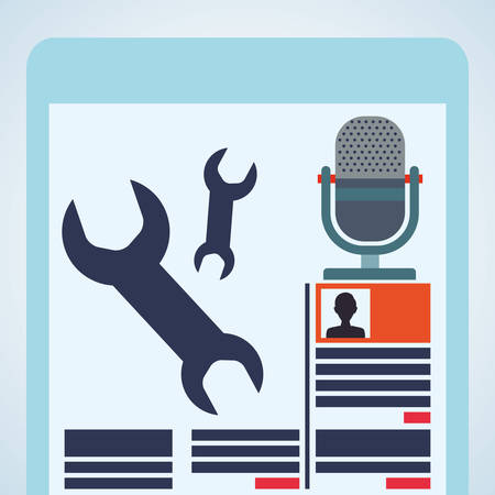 blogging: Blogging concept with icon design, vector illustration graphic. Illustration