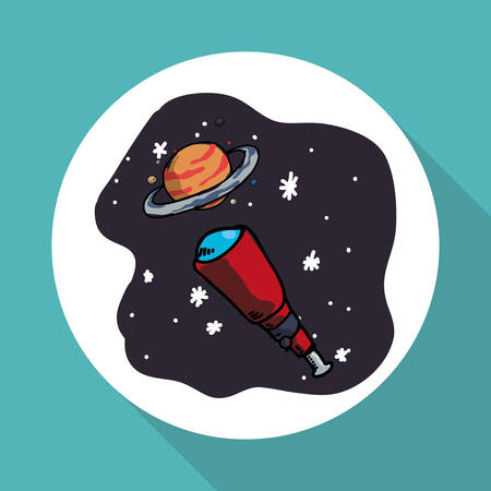 orbital station: Space concept with icon design, vector illustration 10 eps graphic.