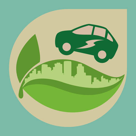 car leaf: Eco concept with icon design, vector illustration 10 eps graphic. Illustration
