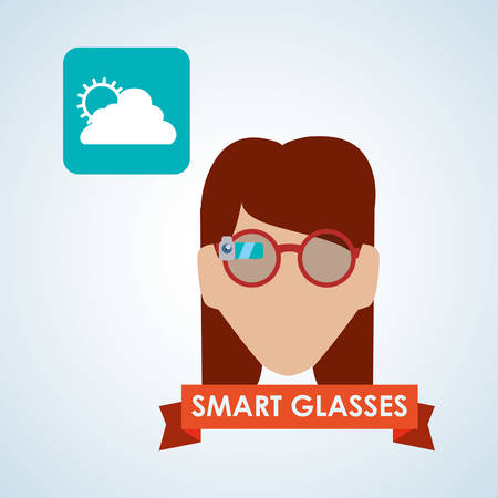 wheater: Smart device concept with icon design, vector illustration 10 eps graphic.