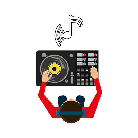 dj boy: Music concept with icon design, vector illustration 10 eps graphic. Illustration