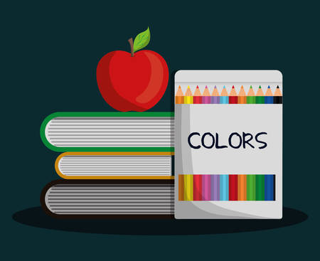primary color: School concept with icon design, vector illustration 10 eps graphic.