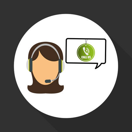 call center female: Call center concept with icon design, vector illustration 10 eps graphic.