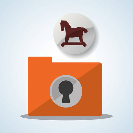 troyan: Security system  concept with icon design, vector illustration 10 eps graphic.