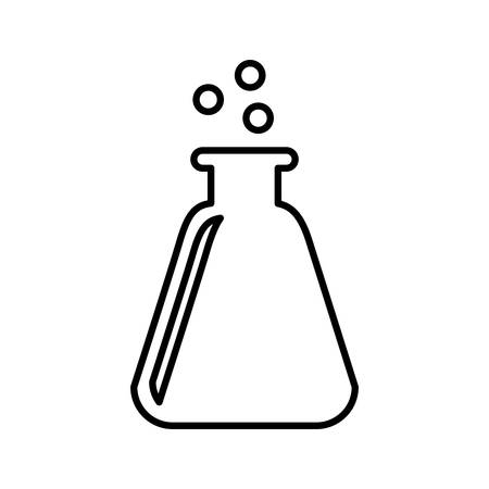 chemical bottle: chemical bottle bubbling line vector isolated , Vector