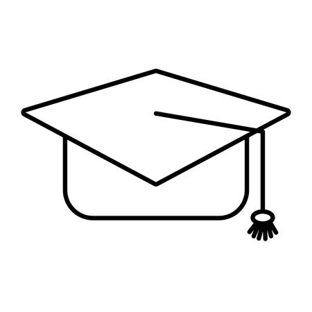 tassel: graduation hat with a tassel vector design , Vector