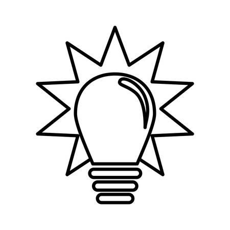 shining light: isolated shining light bulb idea icon design  , Vector Illustration
