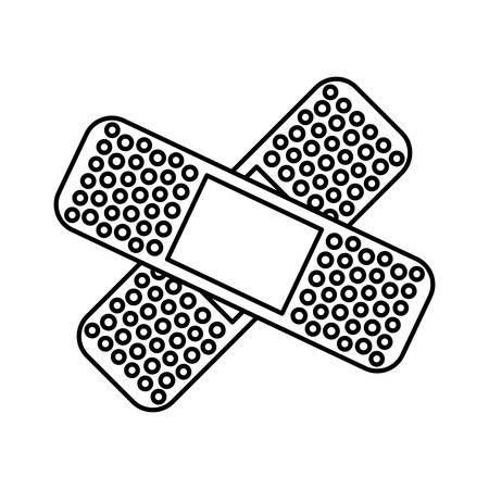 wound care: isolated adhesive medical bandage over white background vector design , Vector