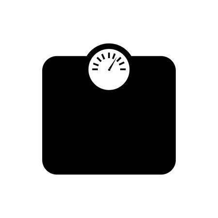weight machine: isolated weight measure machine silhouette icon design  , Vector Illustration
