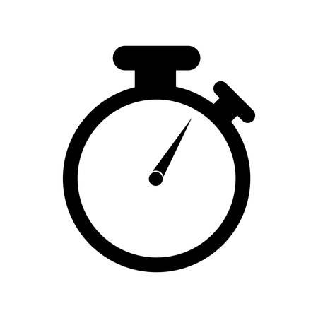 chronometer: isolated chronometer icon design silhouette time measure illustration , Vector