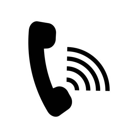 press agent: isolated phone call with sound waves icon design , Vector