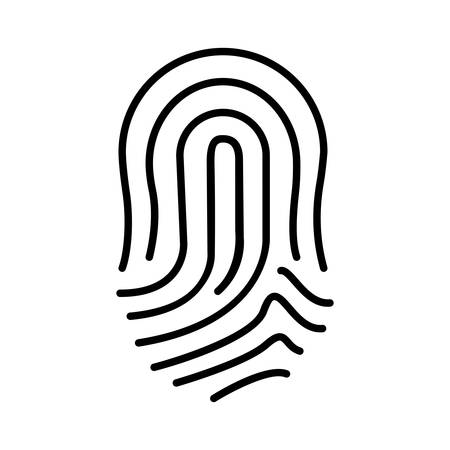 finger print: isolated finger print icon design, linear illustration , Vector