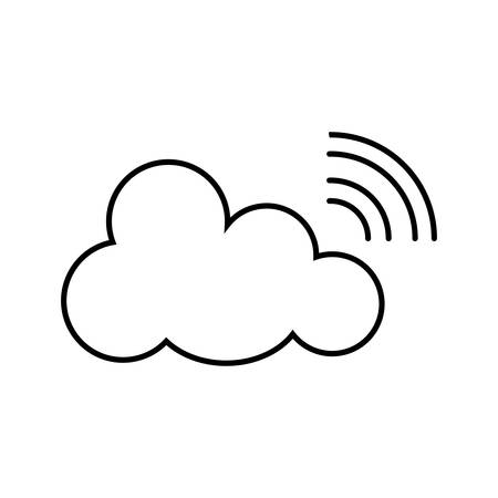 transmitting: isolated wi fi cloud, transmitting service, internet concept design , Vector