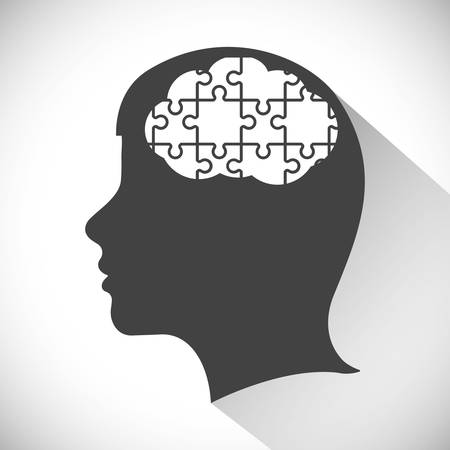 mental object: Think concept with icon design, vector illustration, person avatar