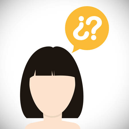 invent clever: Think concept with icon design, vector illustration, person avatar
