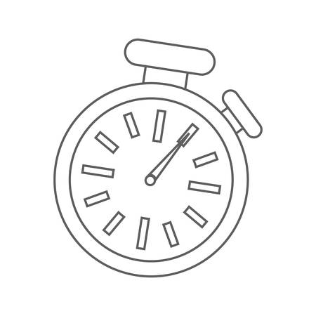 chronometer: time concept represented by chronometer pointed on one  illustration, flat and isolated design