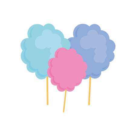 Sugar food concept represented by cotton candy illustration, flat and isolated design 版權商用圖片 - 58476121