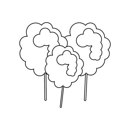 cotton candy: Sugar food concept represented by cotton candy illustration, flat and isolated design