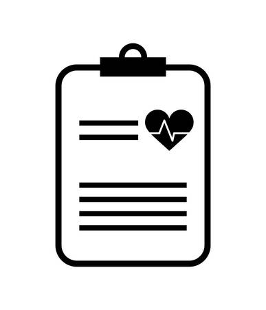 health care concept: medical and health  care concept represented by icon of medical history, flat and isolated design