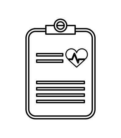 medical history: medical and health  care concept represented by icon of medical history, flat and isolated design