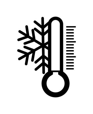 diagnose: Weather intrument representated by traditional thermometer  with striped figure design over isolated and flat illustration