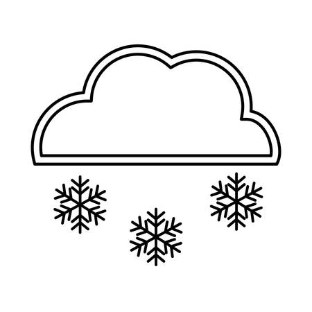 snowing: Snowing representated by snowflake with star figure design over isolated and flat illustration Illustration