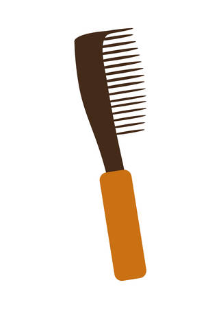 haircare: Hair care represented by comb icon over flat and isolated design