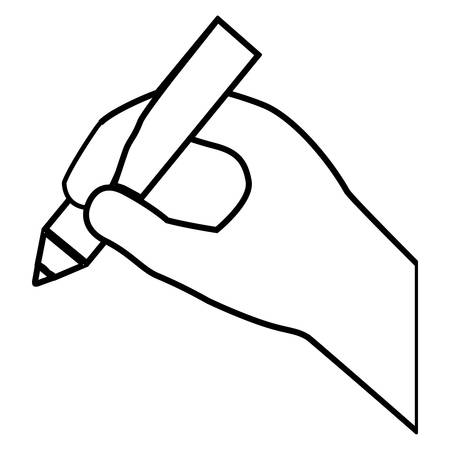 paint and draw concept represented by pencil tool  icon over flat and isolated design