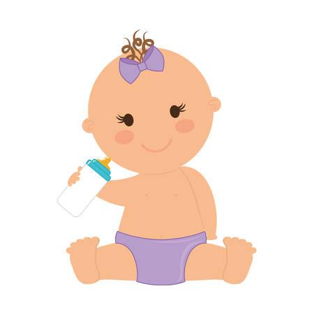 concetto di bambino rappresentato da un'icona infante sopra design piatto e isolato
