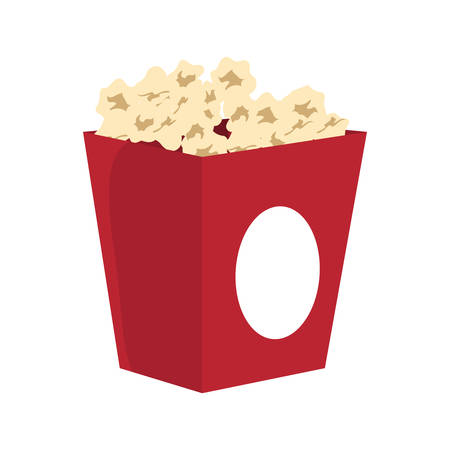 pop corn: Fast and Street food  concept represented by pop corn menu illustration, flat and isolated design
