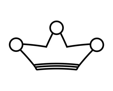 three points: Silhouette of a crown of three points over isolated and flat background