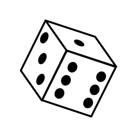 odds: Casino and las vegas represented by dice over isolated and flat illustration