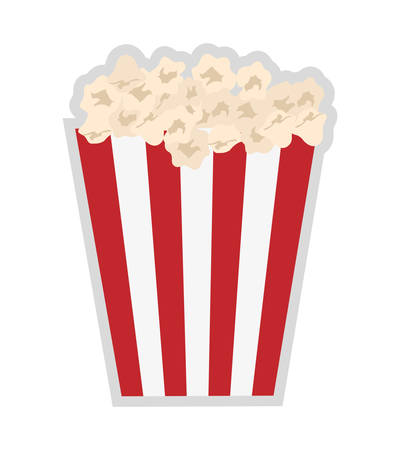 pop corn: Movie and Cinema represented by classic pop corn food  icon over flat and isolated background Illustration